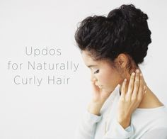 Wedding Updo for Naturally Curly Hair - Find the best 'How To' DIY Wedding Projects at OnceWed.com #naturalhair #naturallycurlyhair #naturallycurlyupdo