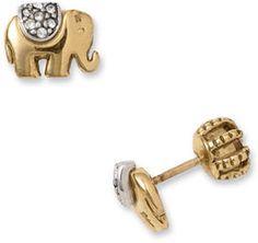 Juicy Couture Elephant Stud Earrings