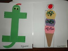 I for iguana and icecream letter crafts, craft books, butterflies, rockaby butterfli, ice cream, alphabet books, abc centers, alphabet crafts, icecream