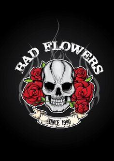 Creating Symbol for Rock band Bad Flowers  Criação de Símbolo para banda de Rock Bad Flowers   #art #ilustration #design #logo