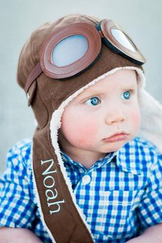 8316d9c4dce Baby Pilot Hat - Baby Boy Aviator Hat - Embroidered Name Hat for Baby - Baby  Boy Gift - Airplane Nursery - Vintage plane photo prop - Newborn  Photography ...