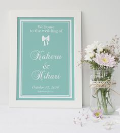 DIY store PBWオリジナルの海外ウェディング風ウェルカムボードです♡シンプルだけど華やかに結婚式を彩ります。メッセージ内容やフォント・色などを自由にカスタムすることが可能なので結婚式だけではなくお部屋のインテリアやプレゼントにもどうぞ。花嫁の憧れ♡ティファニーブルーのシンプルなウェルカムボードです。白文字の場合は女の子らしいガーリーなイメージ黒文字の場合は大人の女性のエレガントなイメージになります♪特に記載が無い場合は画像1枚目のデザインでお作り致します。▼サイズA3ポスター印刷追加料金でA2ポスター印刷、又はパネル印刷が可能です。※パネル印刷のみA4サイズも可能<<追加料金について>>A2ポスター又はパネル印刷ご希望の場合は商品と一緒に下記オプションを指定数量ご購入いただき備考欄にご希望サイズを明記ください。A2ポスター印刷の場合→数量1A4パネル印刷の場合→数量2A3パネル印刷の場合→数量2A2パネル印刷の場合→数量3オプションのご購入はコチラhttp://pbw.theshop.jp/items/23...