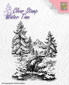 Transparentní razítka / 6,5x8cm / Winter waterfall