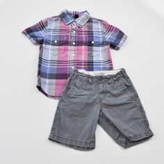 Boys 4/4T Shorts and Shirt- Gently Used- The Children's Place and Baby Gap- Click to see the whole lot!
