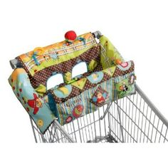 diy baby cart cover with pockets and something to play with