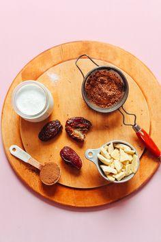 HEALTHY Naturally Sweetened Vegan Chocolate Mousse! 7 ingredients, EASY, SO delicious. #vegan #glutenfree #plantbased #dessert #chocolate #mousse #minimalistbaker #recipe