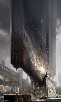 Jan Urschel (actually, this might be a building, but it looks like some massive ship that's landed)