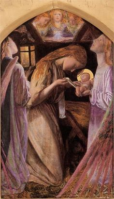 """The Nativity,"" Arthur Hughes - WikiPaintings.org"