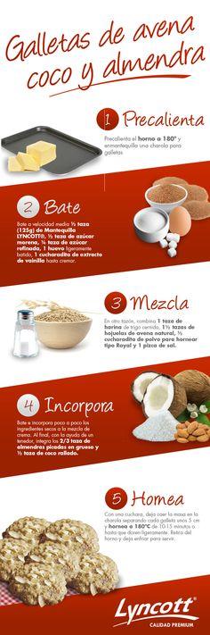 Galletas de Avena, Coco y Almendra