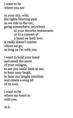 i want to be where my heart is.