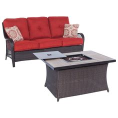 Hanover - Orleans Collection Fire Pit Set (2-Piece) - Autumn Berry
