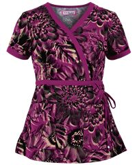 Koi Scrubs Digital Floral Print Top, Style #  K115DIF #scrubs, #fashion, #raspberry, #nurses, #uniformadvantage, #pantone2014radiantorchid, #koi