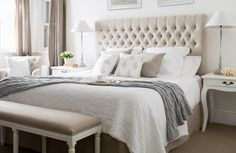 Natural Linen for master bedroom