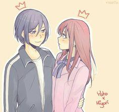Noragami - Yato x Hiyori Iki - Yatori Noragami Anime, Yato X Hiyori, Manga Anime, Anime Art, Anime Couples, Cute Couples, Otaku, Yatori, Fairy Tail Ships