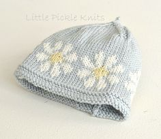 Little daisy flower linda whaley knitting patterns-001 small2 Chapeau Bébé,  Poussins, Tricot, Chapeaux, Modèles De Chapeau De 89b7fdf694f