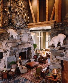 I just couldn't resist...seriously, who doesn't want goats climbing around their living room??