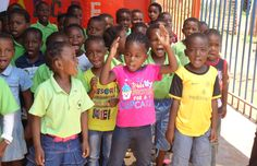 Too cute! Children in creche in township Atteridgeville dancing and singing. Betty, a former GetOn student, has founded this creche and is now looking after 95 lovely kids.