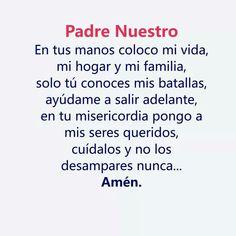 Night Prayer, God Prayer, Prayer Quotes, Daily Prayer, Jesus Quotes, Positive Phrases, Motivational Phrases, Catholic Prayers In Spanish, Prayer For Family