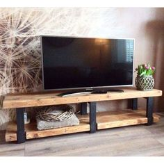 Discover recipes, home ideas, style inspiration and other ideas to try. Tv Unit Furniture, Rustic Furniture, Home Furniture, Furniture Design, Home Living Room, Living Room Decor, Wood Table Design, Wood Slab Table, Home Room Design