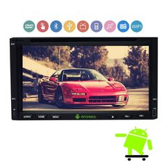 Android 7'' Capacitive Touch Screen GPS Navigation Car no-DVD CD Video Player 2 din Car Stereo AM/FM RDS Radio+Bluetooth+WiFi #Affiliate
