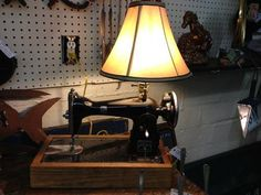 Montgomery Ward Sewing Machine Lamp with Shade - $125
