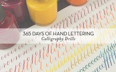 Calligraphy Drills | Week 11 Roundup Chalk Lettering, Hand Lettering Fonts, Creative Lettering, Lettering Styles, Handwritten Fonts, Typography Letters, Brush Lettering, Lettering Design, Brush Pen Calligraphy