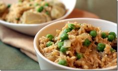 Satisfying Basmati Rice with peas and artichoke hearts  cleaneatingchelsey.com