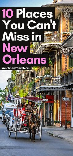 The Top 10 Things to do in New Orleans (besides drunken debauchery on Bourbon Street).  Make sure you visit Jackson Square, the French Quarter, Bourdon Street, a swamp boat tour and of course enjoy the amazing food!  Read the full article on AvenlyLaneTravel.com #neworleans #usa #usatravel