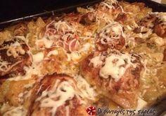 Διαφορετικό κοτόπουλο στον φούρνο με πατάτες
