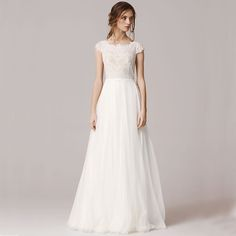 Modest Sheath Sweetheart Long Sleeve Lace Wedding Dress With