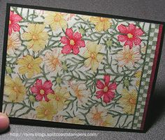 Tips and Tutorials » Rainy Day Creations » Page 5 **** Susan Roberts - This is a picture of the card base without the embellishments. This is a napkin card & Susan has a link to a tutorial.
