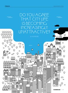 Crowded City by Angela Soh, via Behance