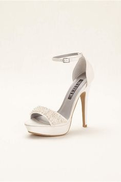 14152d7977d9 White by Vera Wang Embellished Platform Wedding   Bridesmaid Sandals -  Ivory