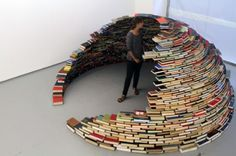 Igloo made of books (Beyond Nose-in-a-Book!)