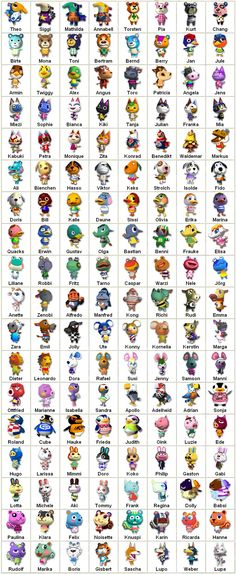 animal crossing | Animal Crossing: Personajes ~ Animal Crossing (Ambos) a bunch of these are wrong!!