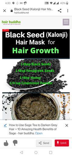 Sage Benefits, Health Benefits, Natural Hair Tips, Natural Hair Styles, Sage Uses, Black Seed, Hair Hacks, Seeds, Food