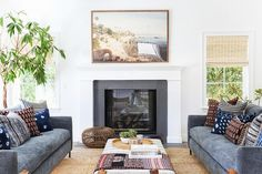 Gorgeous Sofas, Beautiful Pops Of Color & Layers Of Texture Combine To Create A Stunning Space...