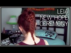 Star Wars Hair - Leia's New Hope Ceremony Updo - YouTube