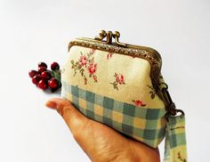 Wristlet clutch purse Double frame purse Double by DooDesign, $35.90