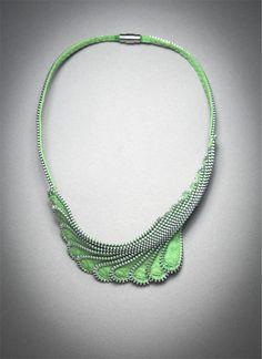 "Zipper Necklace, ""Lift"""
