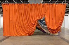 Seven Curtains by Ulla Von Brandenburg Stage Design, Set Design, Drapes Curtains, Drapery, Pop Up Stores, Installation Art, Wedding Designs, Design Inspiration, Interior Design