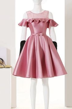 Cheap homecoming dresses 2017,Homecoming Dresses,Short Prom Dresses,Cocktail Dress,Homecoming Dress,Graduation Dress,Party Dress,Short Homecoming Dress Cute Short Dresses, Casual Summer Dresses, Baby Girl Party Dresses, Dress Anak, Fashion Sewing, Swing Dress, Cute Fashion, Dream Dress, New Outfits