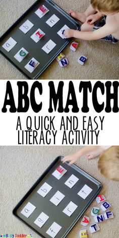 ABC Match: A quick and easy literacy activity.
