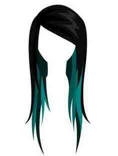 This is exactly what I want to do with my hair. Green underneath/lowlights. Just perfect.