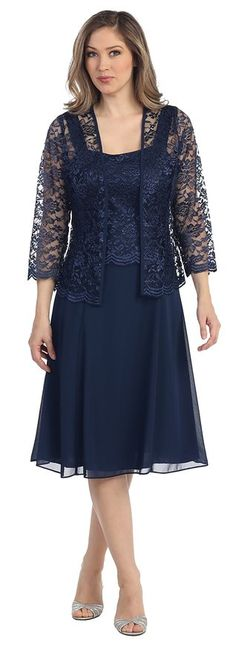 Womens Short Mother of the Bride Plus Size Formal Lace Dress with Jacket: Amazon Fashion