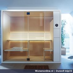 - Save up to on this stunning Duravit Inipi B Freestanding Sauna at QS Supplies. Manufacturing code of this Sauna is Duravit, Design Sauna, Modern Saunas, Magazine Deco, Spa Rooms, Italia Design, Sauna Room, Boutique Deco, Beautiful Home Designs