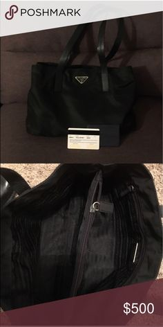 Prada Vela Nylon Tote Excellent condition. Comes with authenticity card. Super cute! Prada Bags Totes