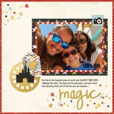 #Papercraft #scrapbook #layout. Created by Sue Kendall using our brand new Say Cheese II collection
