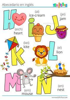 ▷ Abecedario en Inglés | Letras + Vocabulario + Pronunciación Color Activities For Toddlers, Creative Activities For Kids, Preschool Learning Activities, Preschool Classroom, Preschool Worksheets, Learning English For Kids, English Lessons For Kids, Teaching English, Kids Learning