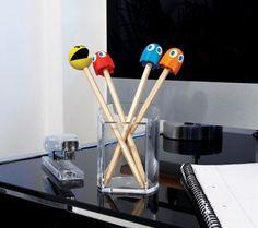 Pencils With Pac-Man Eraser Top   Bagmyitems